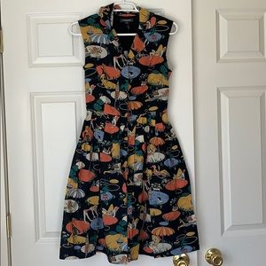 ModCloth Emily and Fin pool party dress sz XS BNWT